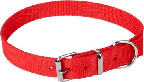 Dingo obroża z taśmy polipropylenowej, pojedyncza szer. 1,0 cm dł.30 cm ( 20-25 cm ) czerwona