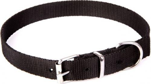 Dingo obroża z taśmy polipropylenowej, pojedyncza szer. 1,0 cm dł.30 cm ( 20-25 cm ) czarna