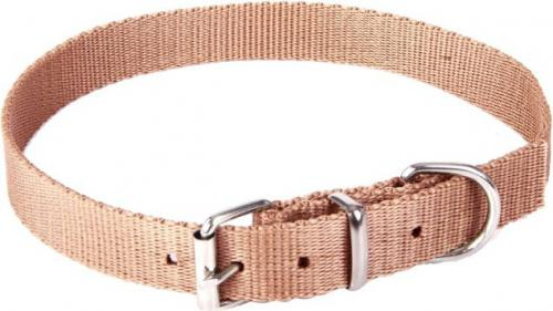 Dingo obroża z taśmy polipropylenowej, pojedyncza szer. 1,0 cm dł.30 cm ( 20-25 cm ) brązowy