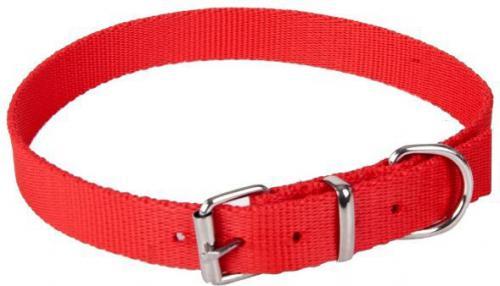 Dingo obroża z taśmy polipropylenowej, pojedyncza szer. 1,6 cm dł.45 cm ( 35-41 cm ) red- 12630