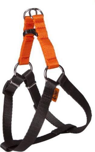 """Dingo szelki fred """"energy"""" rozmiar 40 szer. 1,2 cm, z taśmy polipropylenowej orange+black - 94607"""