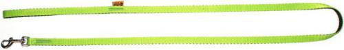 """Dingo smycz pojedyncza """"energy""""  szer. 1,2 cm dł.120 cm, z taśmy polipropylenowej green"""