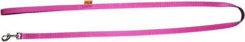 """Dingo smycz pojedyncza """"energy""""  szer. 1.2 cm dł.120 cm, z taśmy polipropylenowej pink"""