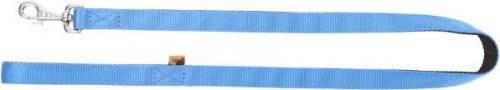 """Dingo smycz pojedyncza """"energy"""" szer. 1,2 cm dł.120 cm, z taśmy polipropylenowej niebieska"""