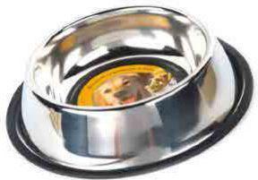Dingo miska ze stali nierdzewnej z gumową podkładką nr. 4                0,90 L - 14503