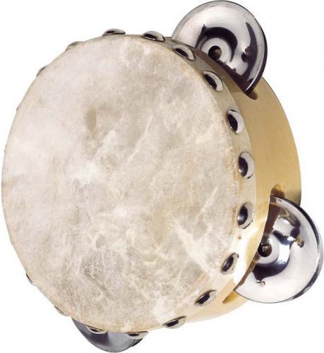 Goki Tamburyn z 3 dzwonkami skóra naturalna  (UC086)