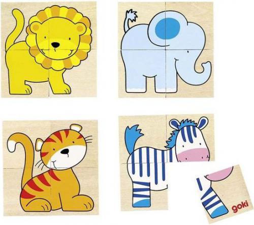 Goki Memo i układanka, dzikie zwierzęta, 20 części (56714)