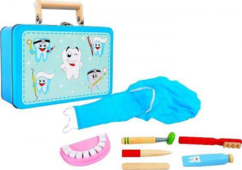 Small Foot Niebieski zestaw dentystyczny  (3984)