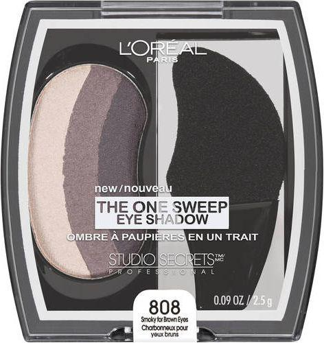 Loreal Studio Secrets The One Sweep Eye Shadow Cienie do powiek 808 Smoky for Brown Eyes 2,5g