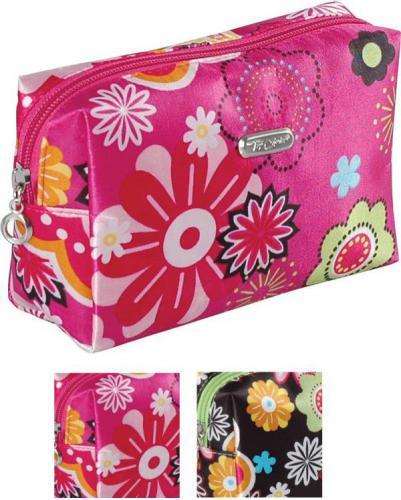 Top Choice Kosmetyczka damska Flower prosta mini (92664)