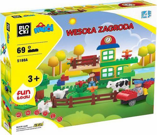 ICOM Klocki Toys 4 All - Wesoła Zagroda 69 elementów (MU5188A)