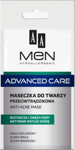 AA Cosmetics AA MEN ADVANCED CARE Maseczka do twarzy przeciwtrądzikowa 12 ml