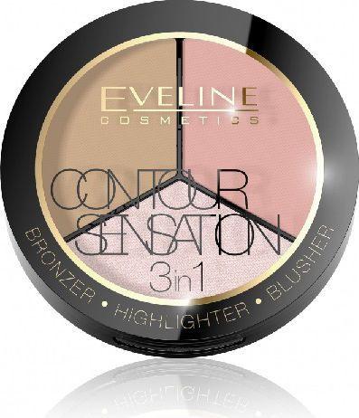 Eveline Zestaw do konturowania Contour Sensation 3w1 1 Pink Beige