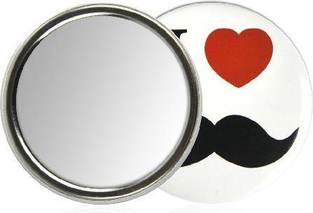 Lusterko kosmetyczne Donegal LUSTERKO kompaktowe okrągłe jednostronne mix wzorów (4527)