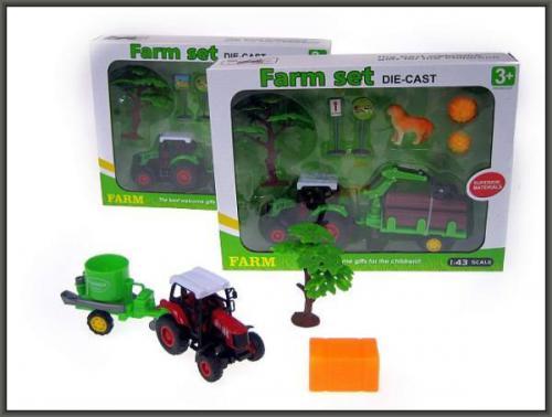 Hipo Zestaw farma mały 8 rodzajów (HXCW06)