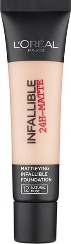 L'Oreal Paris Podkład od twarzy Infallible 24h Matte Foundation 12 Natural Rose 35ml