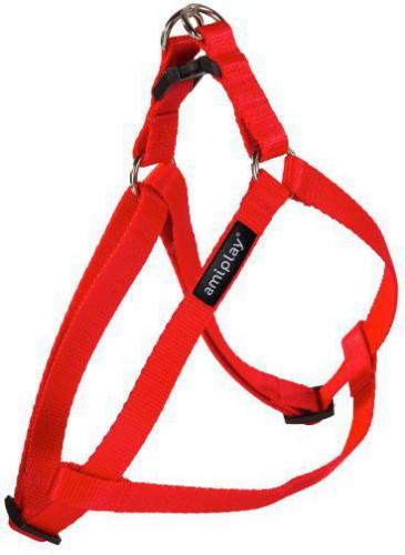 Ami Play Szelki regulowane   Basic M 30-55 [c, d] x 1,5cm czerwony