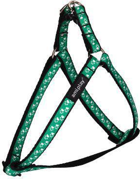 Ami Play Szelki regulowane   Joy M 30-55 [c, d] x 1,5cm Zielone łapki