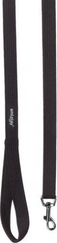 Ami Play Smycz regulowana Easy Fix Cotton S 160-300 x 1,5cm Czarny