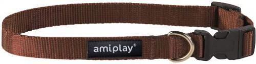Ami Play Obroża regulowana  Basic M 25-40 [b] x 1,5cm Brązowy