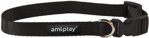 Ami Play Obroża regulowana  Basic M 25-40 [b] x 1,5cm Czarny