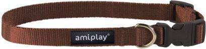 Ami Play Obroża regulowana  Basic XL 45-70 [b] x 2,5cm Brązowy