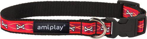 Ami Play Obroża regulowana  Joy S 20-35 [b] x 1cm Kości bordowe