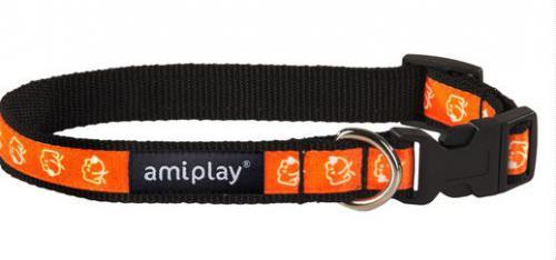 Ami Play Obroża regulowana  Joy S 20-35 [b] x 1cm Pomarańczowy piesek