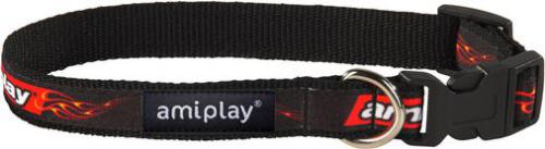 Ami Play Obroża regulowana  Joy S 20-35 [b] x 1cm Płomienie264