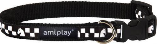 Ami Play Obroża regulowana  Joy S 20-35 [b] x 1cm Szachownica