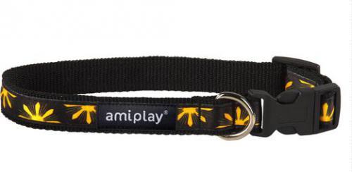 Ami Play Obroża regulowana  Joy S 20-35 [b] x 1cm Żółte kwiaty
