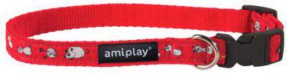 Ami Play Obroża regulowana Wink S 20-35 [b] x 1cm czerwony