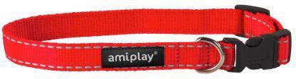 Ami Play Obroża regulowana Reflective S 20-35 [b] x 1cm czerwony