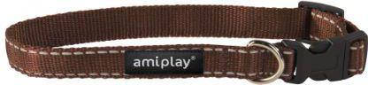 Ami Play Obroża regulowana Reflective S 20-35 [b] x 1cm Brązowy