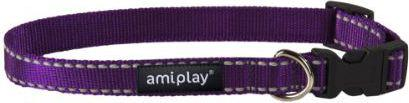 Ami Play Obroża regulowana Reflective M 25-40 [b] x 1,5cm Fioletowy