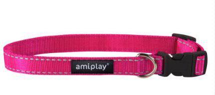 Ami Play Obroża regulowana Reflective L 35-50 [b] x 2cm Rózowy