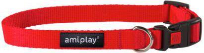 Ami Play Obroża regulowana  z blokadą Basic XL 45-70 [b] x 2,5cm czerwony