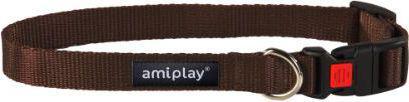 Ami Play Obroża regulowana  z blokadą Basic L 35-50 [b] x 2cm Brązowy