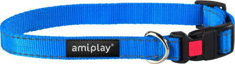 Ami Play Obroża regulowana z blokadą Reflective L 35-50 [b] x 2cm Niebieski