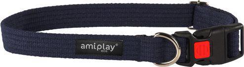 Ami Play Obroża regulowana z blokadą Cotton S 28-40 [b] x 1,5cm Granatowy