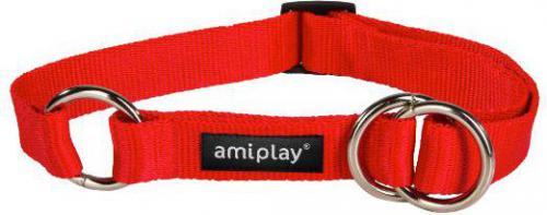 Ami Play Obroża półzaciskowa Basic M 25-40 [b] x 1,5cm czerwony