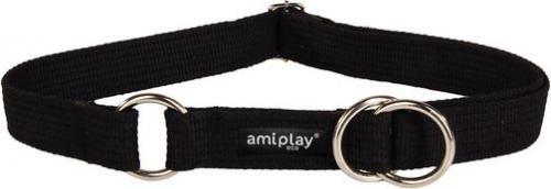 Ami Play Obroża półzaciskowa Cotton L 32-50 cm [b] x 2,5 cm Czarny