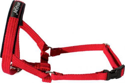 Ami Play Halter Cotton XL Rotweiller 24-45 [a] x 50-65 [b] x 2 cm Czerwony