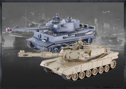 Gimmik Zestaw wzajemnie walczących czołgów M1A2 Abrams i German Tiger v2 (UF/99827)
