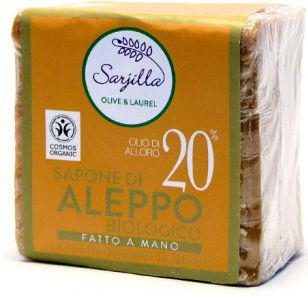 Sarjilla Tradycyjne mydło Aleppo z olejem laurowym 20% BIO 200g