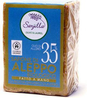 Sarjilla Tradycyjne mydło Aleppo z olejem laurowym 35% BIO 200g