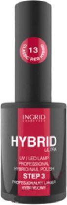 INGRID Hybrid Ultra Lakier hybrydowy nr 13 Classic Red  7ml