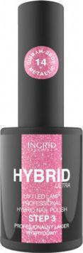 INGRID Hybrid Ultra Lakier hybrydowy nr 14 Metallic Rose  7ml