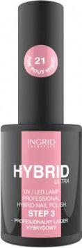 INGRID Hybrid Ultra Lakier hybrydowy nr 21 Pink Pout  7ml