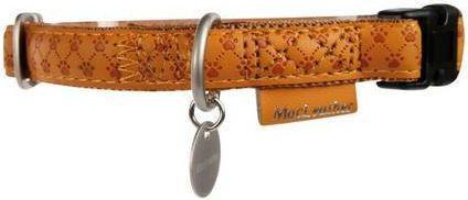 Zolux Obroża regulowana Mac Leather 10 mm - żółty